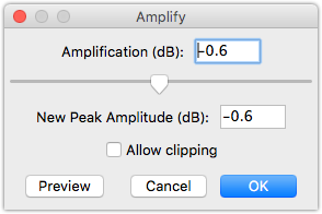 Audacity Amplification