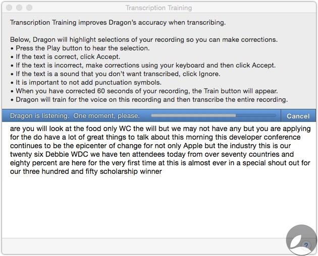 Dragon Transcription Training 1