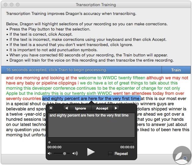 Dragon Transcription Training 2