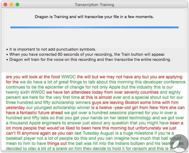 Dragon Transcription Training 3