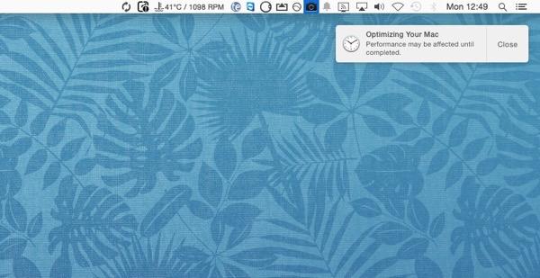 EL Cap Notificaiton Optimising Your Mac