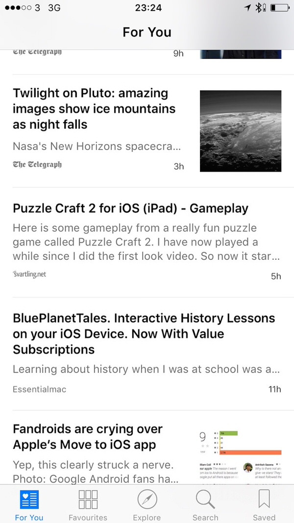 Apple News Curated List