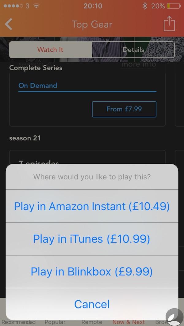 Utelly Top Gear Season 21 Pricing 2
