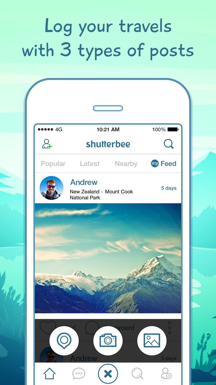 ShutterBee App Screen2