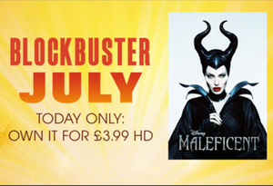 Today's July blockbuster is Maleficent on the iTunes store