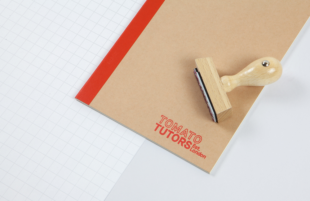 All Works Co._Graphic_Design_Studio_London_TomatoTutors_Identity_Merchandise_Notebook&Stamp
