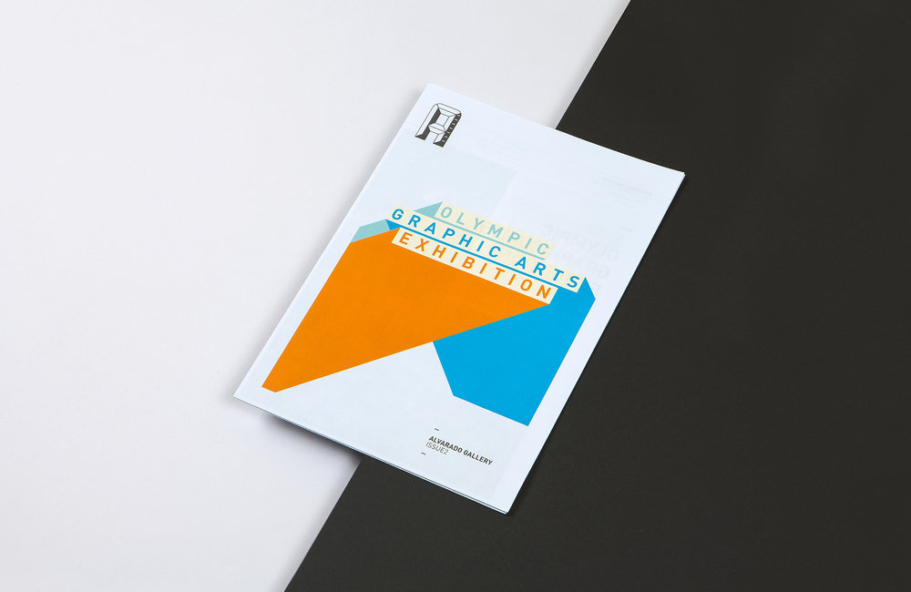 All Works Co._Graphic_Design_Studio_London_  Olympic  Graphics  Arts  Exhibition  _Campaign_Print_Catalogue/Poster_01
