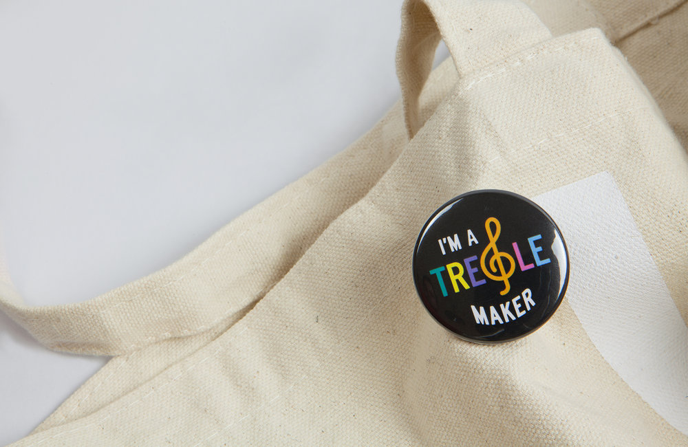 All Works Co._Graphic_Design_Studio_London_TheTrebleMakers_Merchandise_Badges