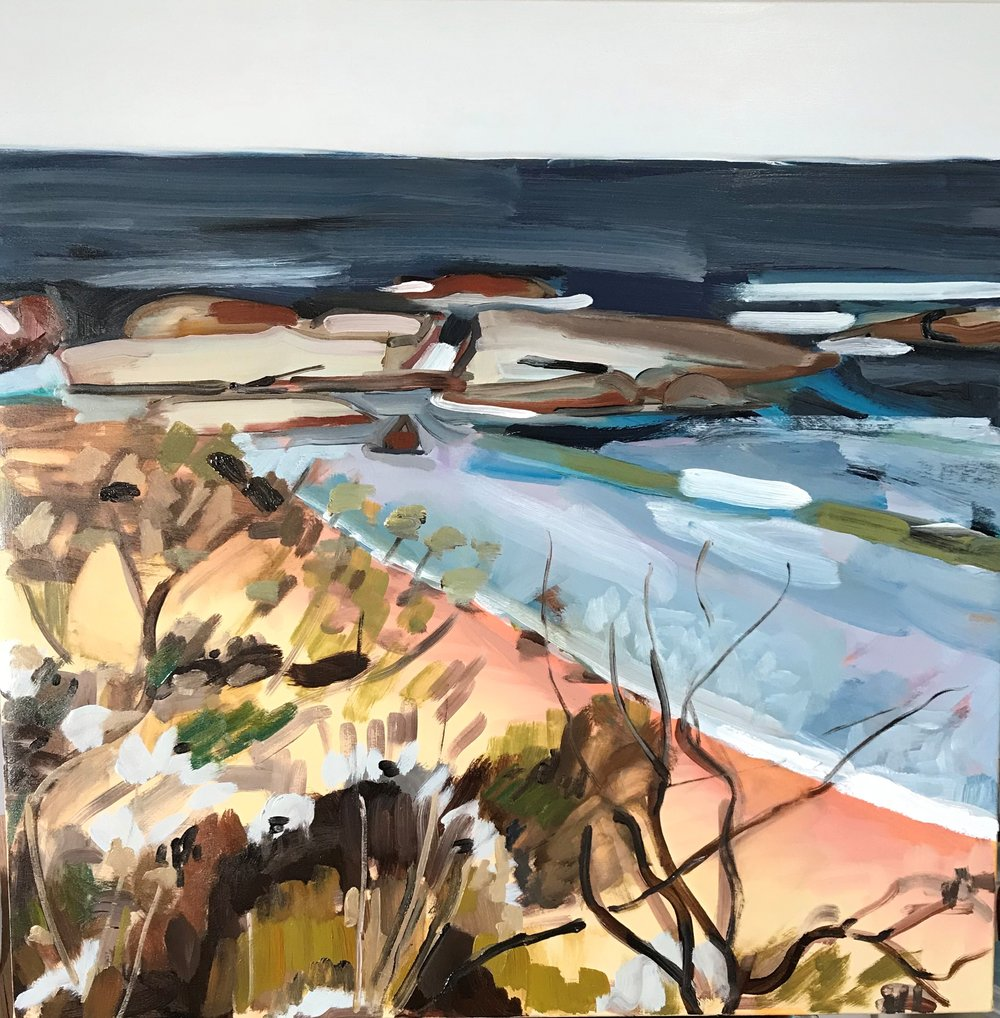 Korora Bay oil 100 x 100 cm on canvas 2017