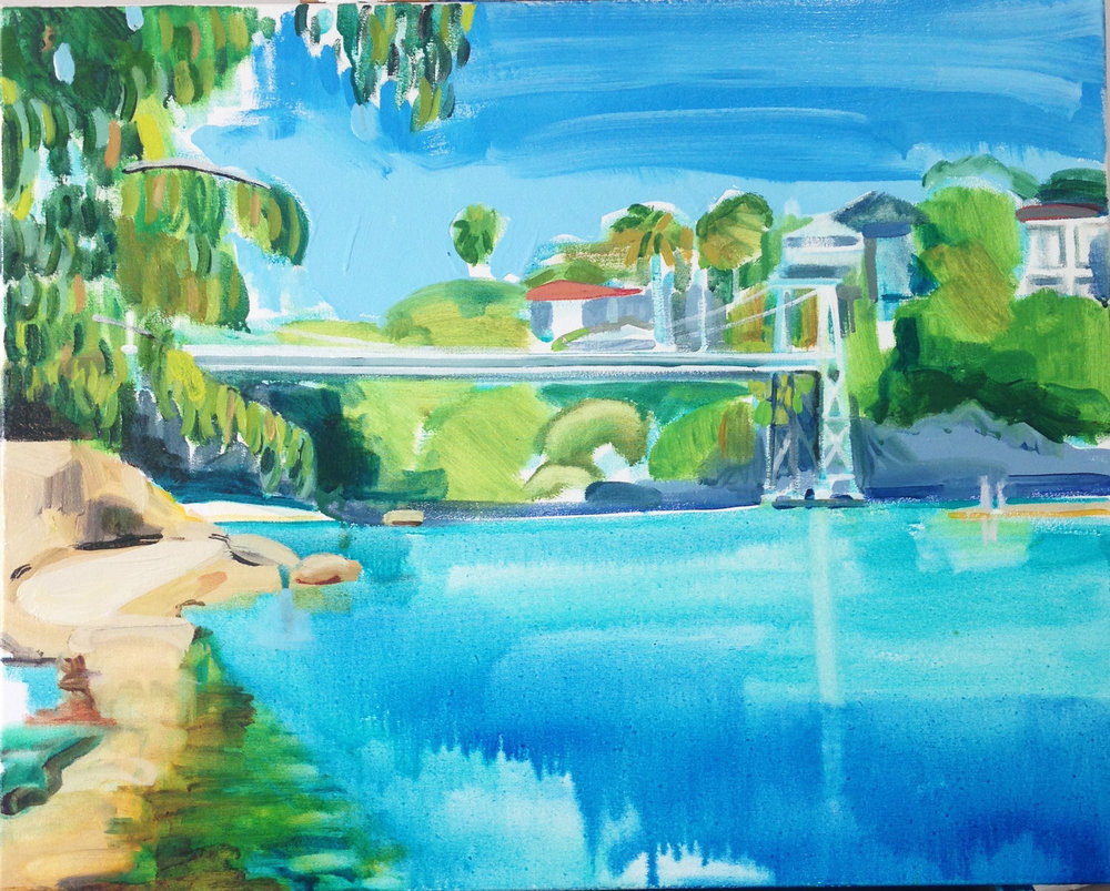 Parsley Bay 70 x 80 cm oil on canvas 2016