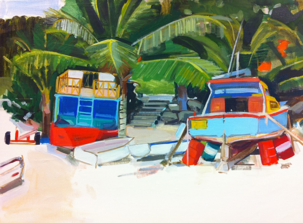 Speightstown 90 x 70cm oil on canvas 2012
