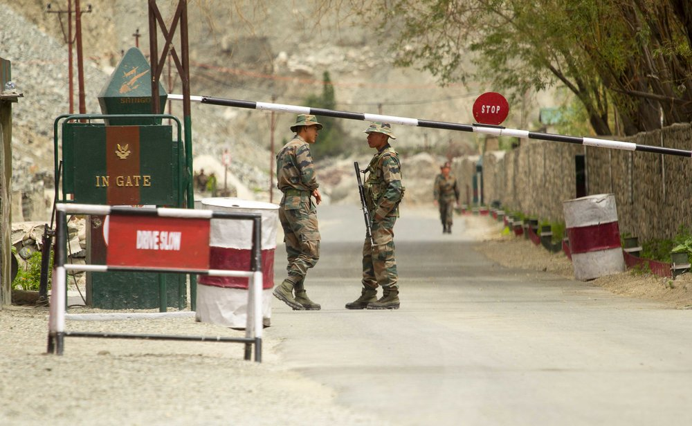 The LoC (Line of Control) is a border that controls the occupancy of an are between India and Pakistani occupied Kashmir. There is a huge military presence in Ladakh. Villagers have to be careful of their actions, especially close to the LoC.