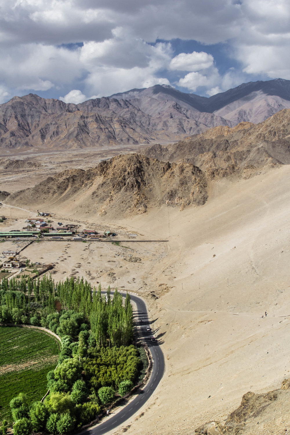 Leh - the once known capital of Ladakh, is a military base that shares its airstrip for public use. In 1998, the Indian Army started a program called Op Sadhbhavana (goodwill) to return some peace to the community. Despite that, military areas occupy a majority of the inhabited land.