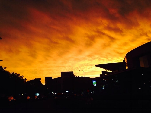 In front of my apartment in Gold Coast after a storm. No filter necessary.