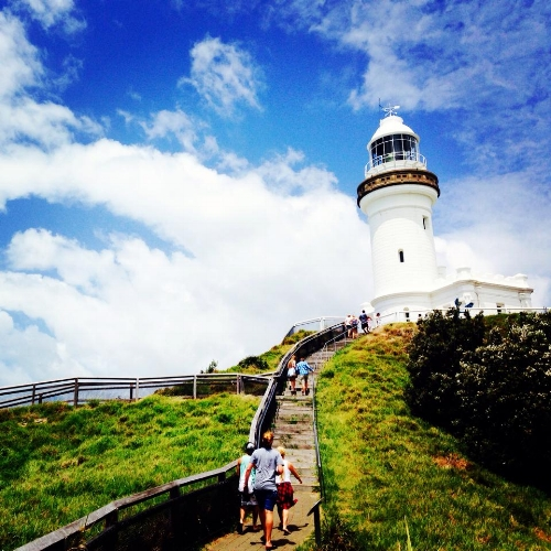 The most easterly point in Australia - Byron Bay Lighthouse