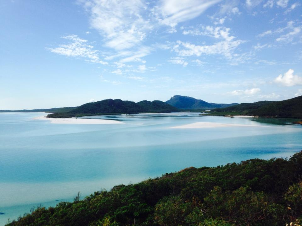 Whitehaven Beach from above - Whitsunday Islands
