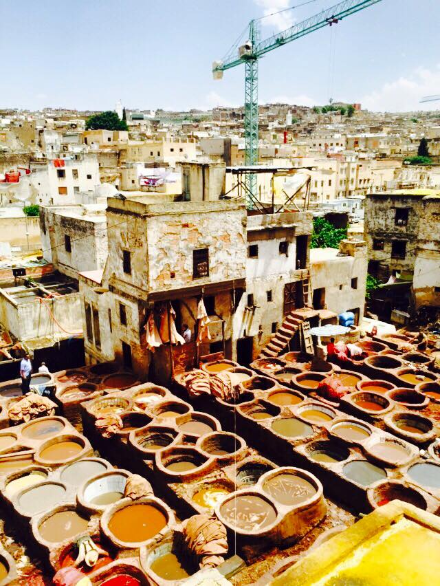 The largest tannery in the world inside the Fez medina