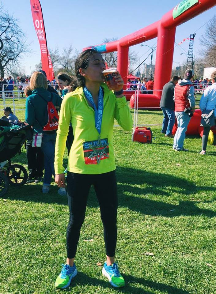 Celebrating 13.1 in 1:56 ... while recovering from the flu