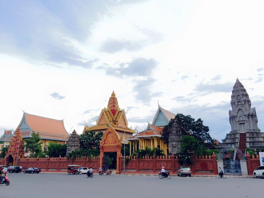 Temples on temples in  Phnom Penh,