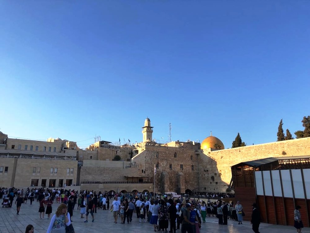 Wailing Wall and Dome of the Rock in the background