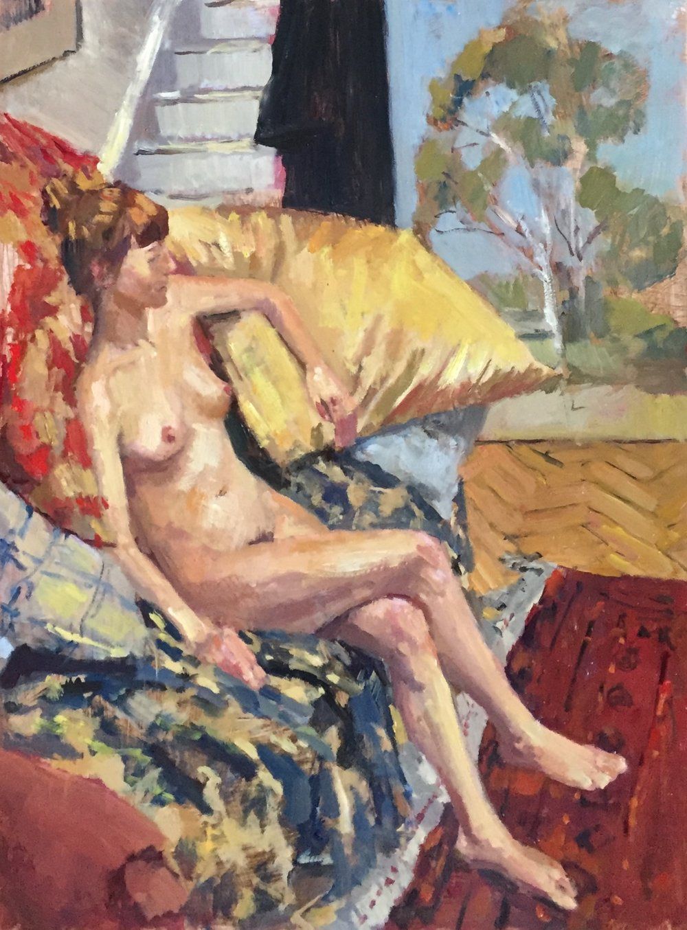 Nude with Bea's Painting