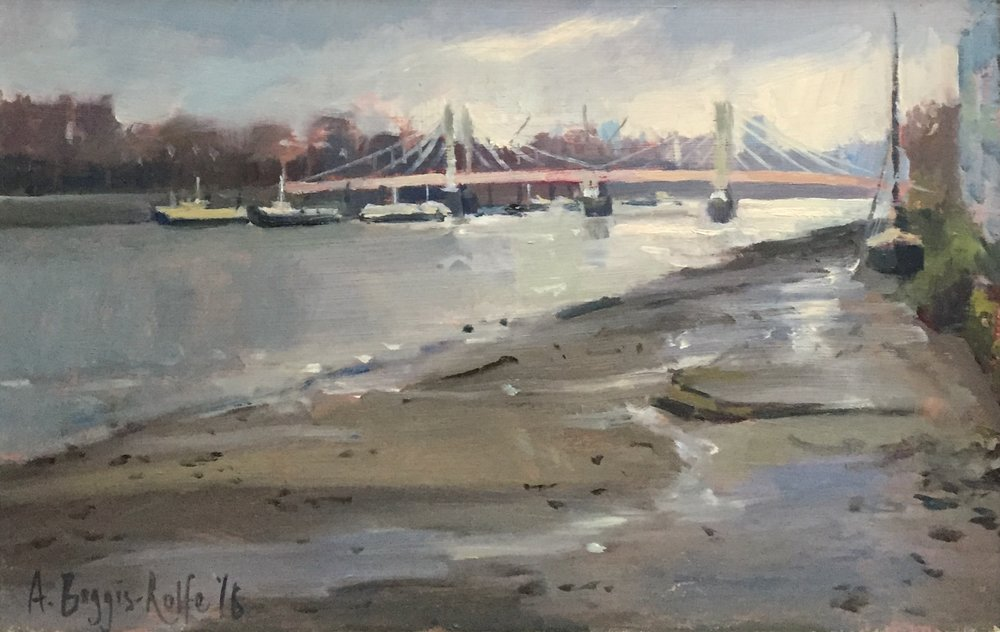 Albert Bridge, Winter
