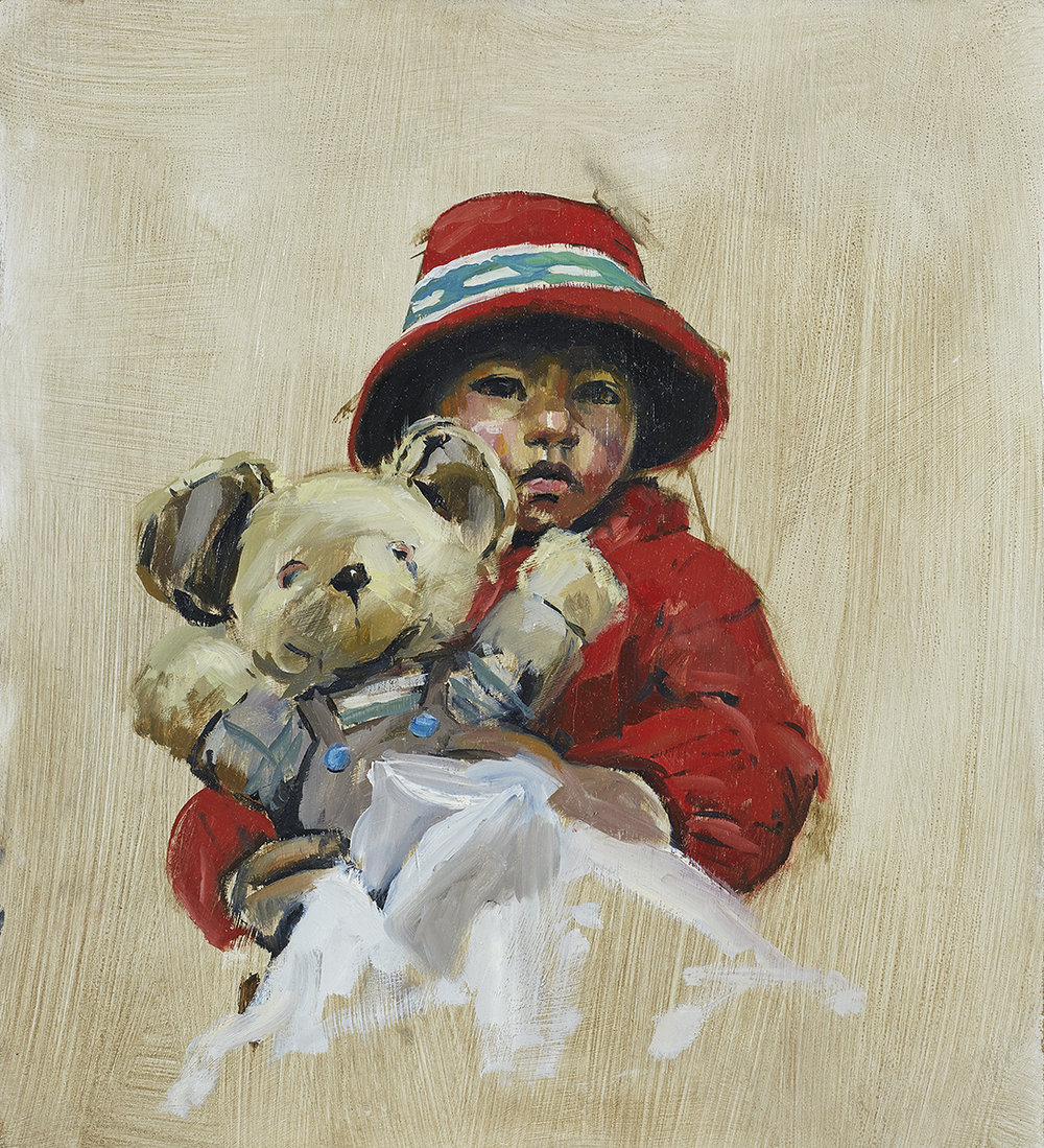 Andean Girl with her Teddy