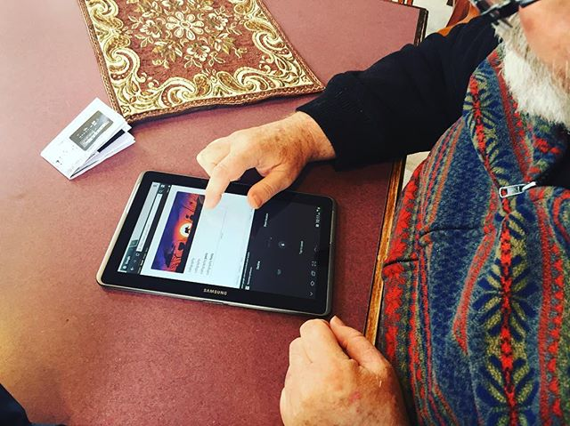 Awww yiss, the first @Google search at Landmark senior home! History was made y'all.  #tablettime #dogood #tech #techforgood #boston #nonprofit #instagood #charitytuesday #volunteer #giveback