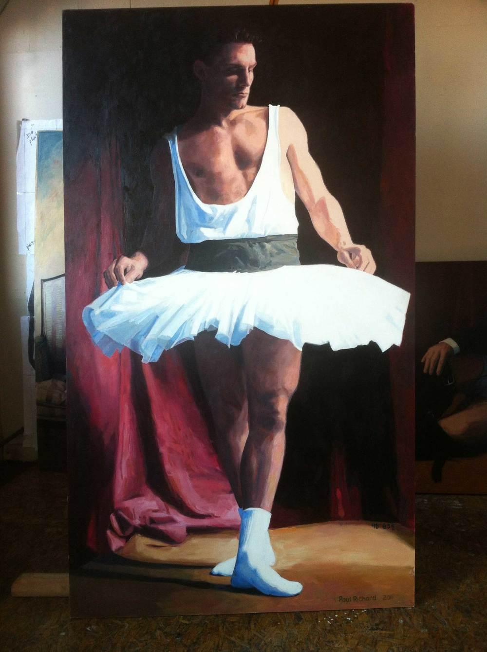 """Tutu, Oil on Panel, 83.5""""x 48"""", 2011"""