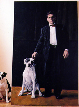 "Untitled (Paul&Ranger), Oil on Canvas, 90""x 56"", 2006"