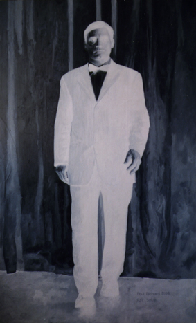 "Negative Man, Oil on Canvas, 82""x 50"", 2008"
