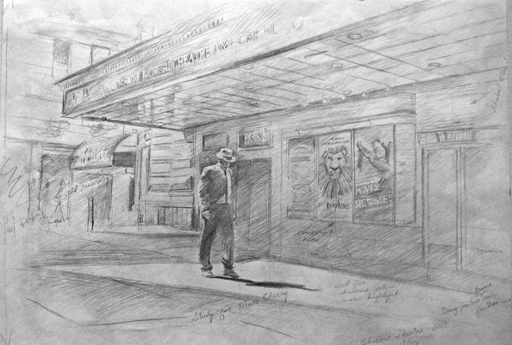 "Shubert Drawing, Pencil on Paper, 15""x 22"", 2013"