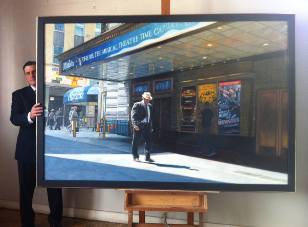 "Shubert Theatre, Oil on Canvas, 60""x 84"", 2014"
