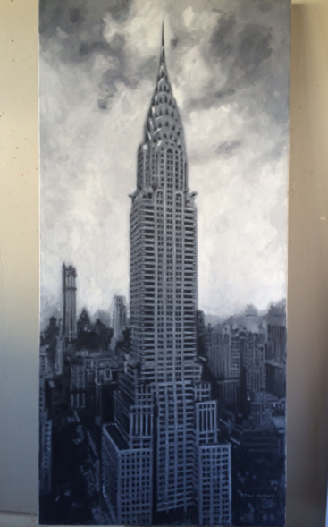 "Chrysler, Oil on Canvas, 60""x 29"", 2016"