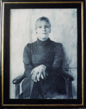 "Anne, Oil on Canvas, 32""x 24"", 2008"