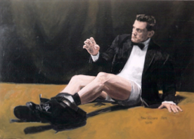 "Fallen Man, Oil on Canvas, 50""x 70"", 2005"
