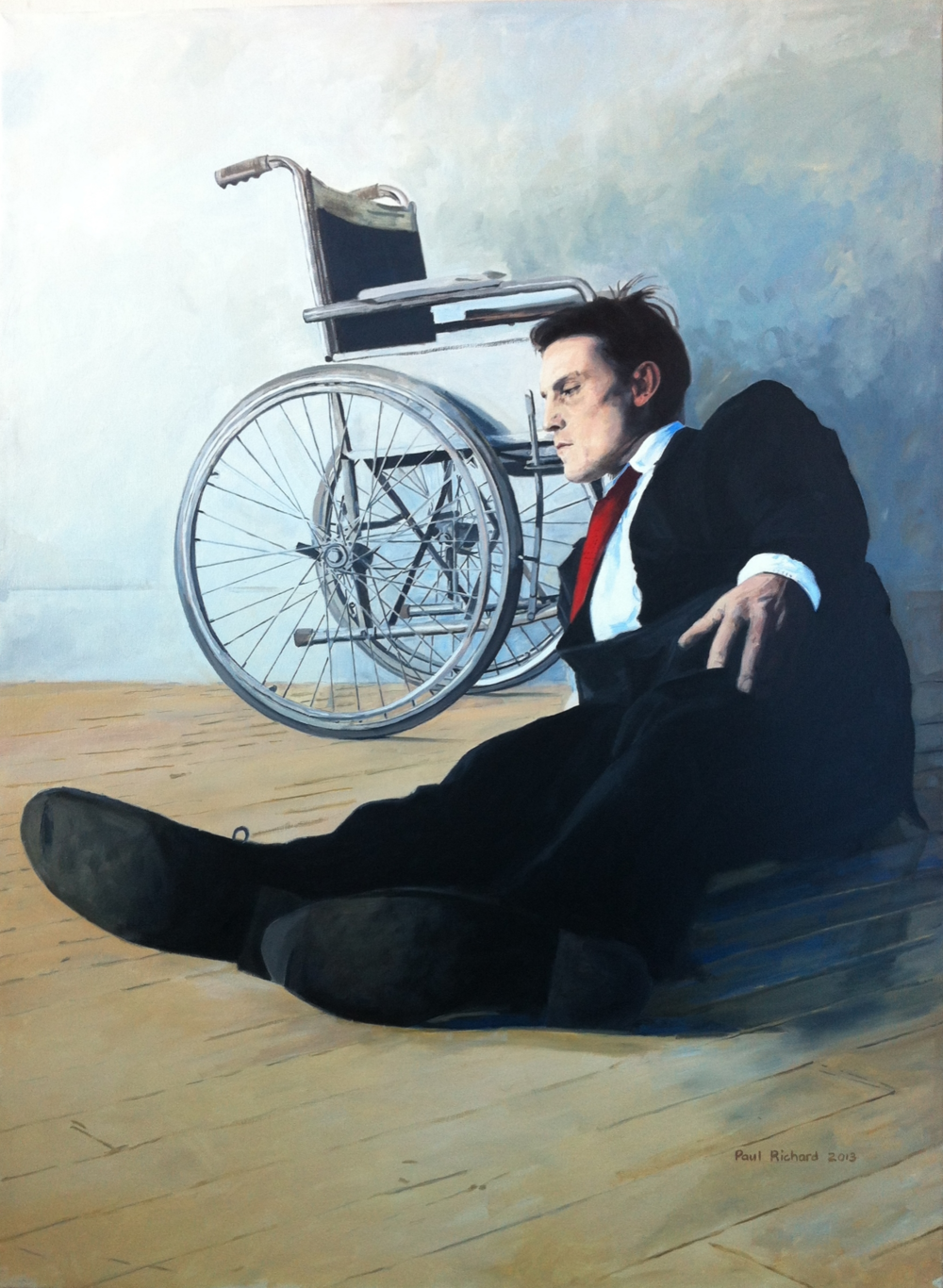"Fallen Man, Oil on Canvas, 60""x 48"", 2013"