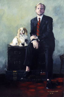 "Kyle, Oil on Canvas, 76""x 50, 2007"