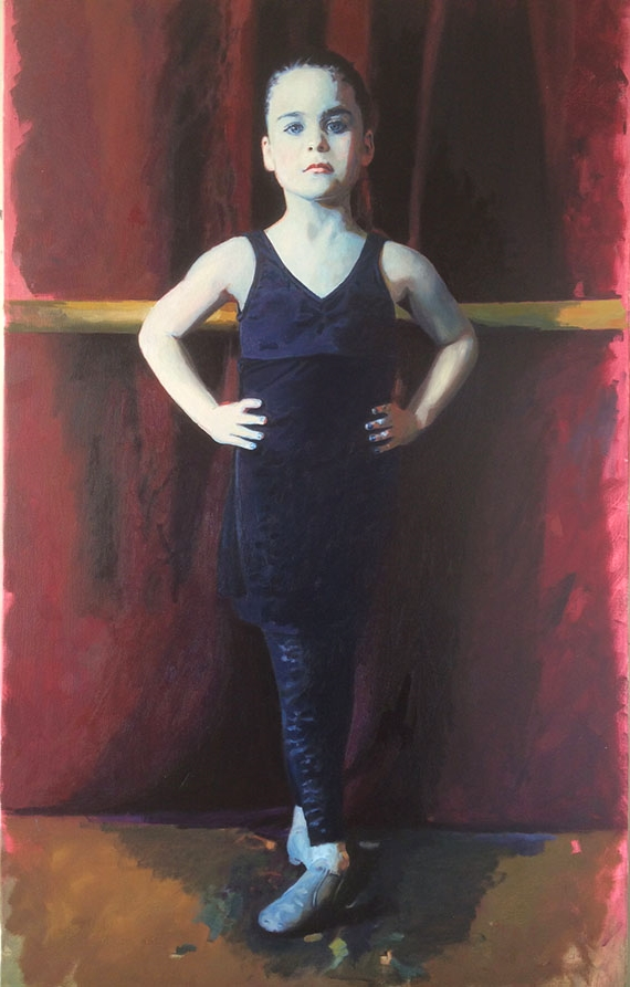 "Girl, Oil on Canvas, 48""x 24"", 2015"