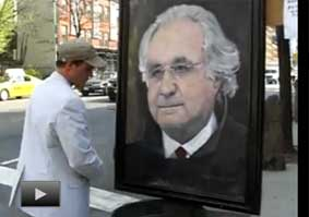 April 26, 2009 Bernie Madoff Portrait Sold On Street