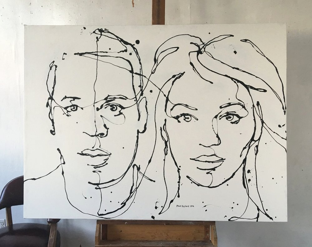 Jay Z & Beyoncé, 2016, Oil on Canvas, 46 x 62 inches Private collection Jay Z & Beyoncé