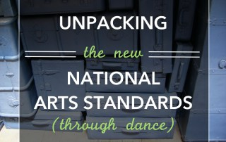 Full series with lesson plans for Dance and the New arts standards