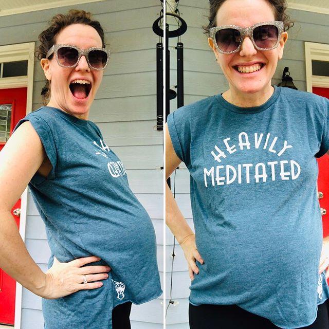 Looks like someone is loving their #HeavilyMeditated shirt from @donkeybeachgear ! . #donkeybeachgear #Atlanta #Hotlanta #dirtysouth #Georgia #pregnant #babybump #maternityfashion #maternityclothes #supermodel #festivalfashion #streetstyle #streetwear #newbusiness #coachellafashion #whatiwore #smallbusiness #onlineshopping #shoplocal #freeshipping #addictedtofashion #yogaclothes #yoga #meditation #keepcalm #babybelly #activewear #clothingdesigner #cricutmade  Made with: @officialcricut  Model: Malka