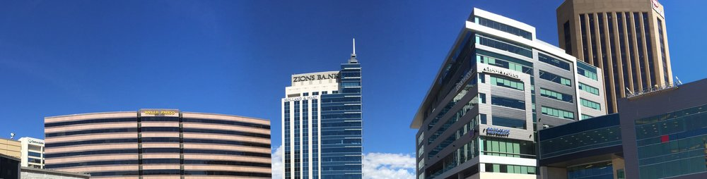 From the Grove, you can see the CenturyLink, Wells Fargo, Zions Bank, Holland & Hart, Clearwater, Boise State and US Bank signs