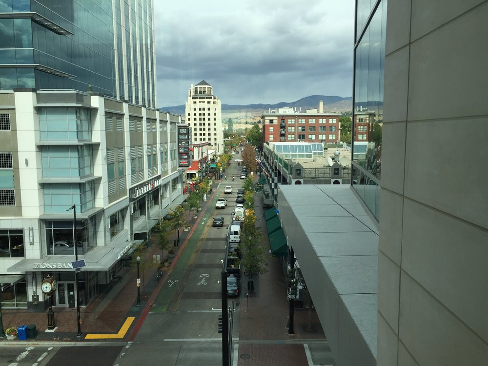 The view from a meeting room to the north - showing the view up 8th Street