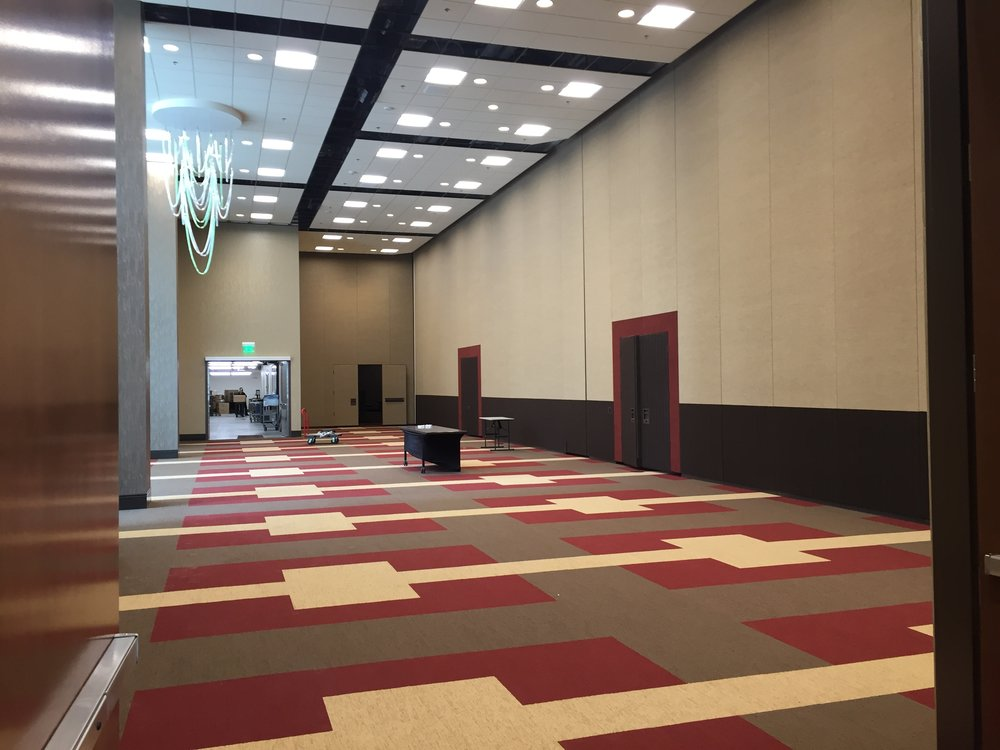Another portion of the ballroom in its subdivided form