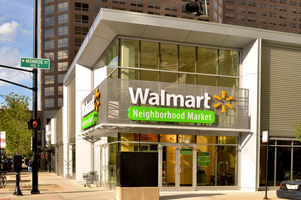 An urban Walmart Neighborhood Market in Chicago via walmart.com