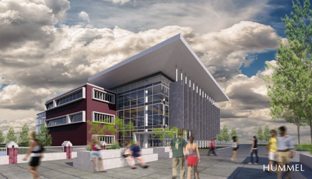 Rendering of a proposed CWI Nampa health sciences building