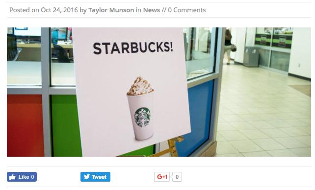 New Starbucks location coming to Boise State's SUB - ArbiterOnline screenshot