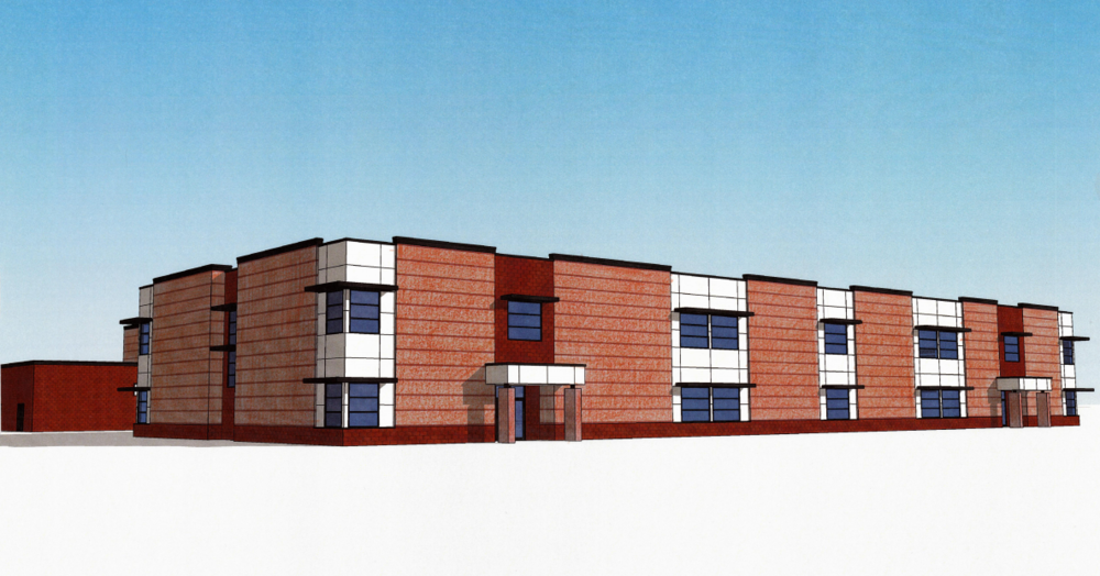 The proposed Whittier Elementary School